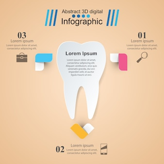 Infographie d'affaires. icône de la dent.