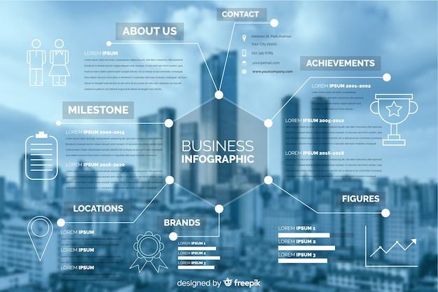 Infographie des affaires plat avec photo