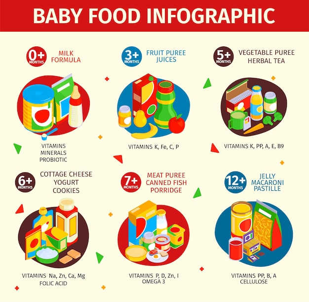 Infographie des aliments pour bébés