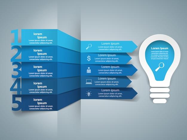 Infographie d'ampoule