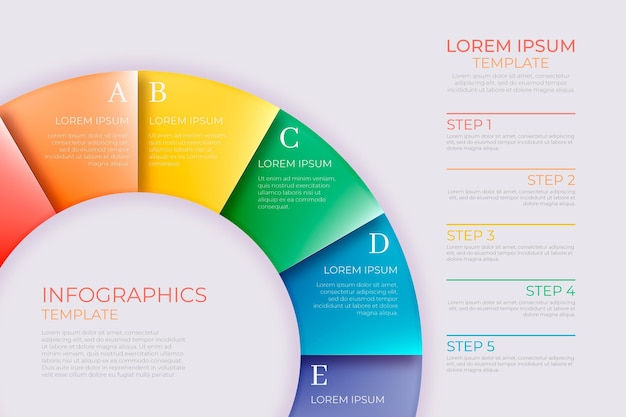 Infographie d'anneau coloré