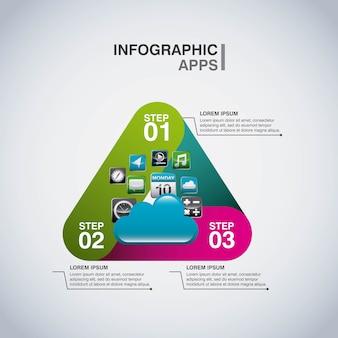 Infographie app set icônes