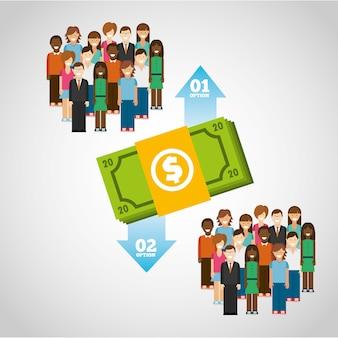 Infographie de l'argent