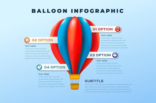 Infographie de ballon réaliste