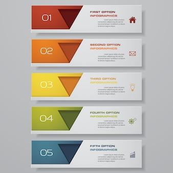 Infographie avec des bannières verticales