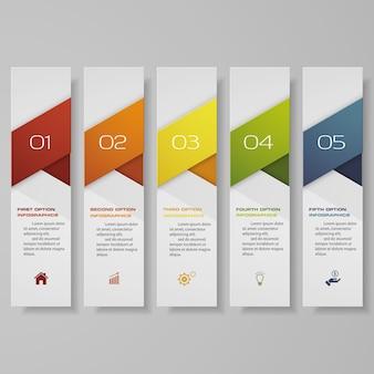 Infographie avec bannières verticales