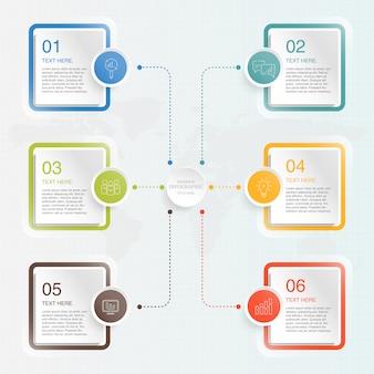 Infographie de base avec des icônes de l'entreprise.
