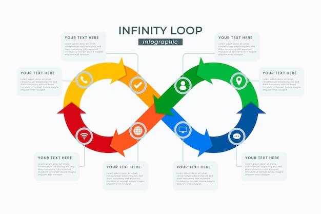 Infographie en boucle infinie colorée