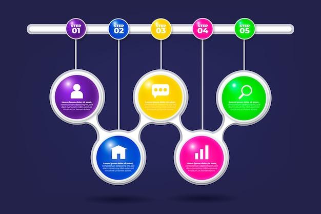 Infographie brillante 3d