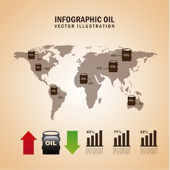 Infographie carburant sur illustration vectorielle fond rose