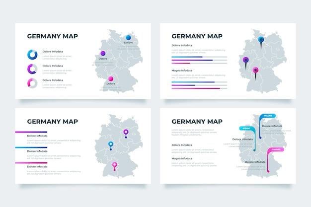 Infographie de carte d'allemagne dégradé