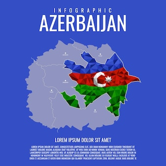 Infographie de la carte de l'azerbaïdjan
