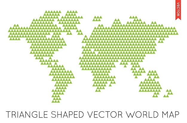 Infographie de carte du monde plat de vecteur. carte du monde.