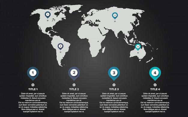 Infographie carte du monde
