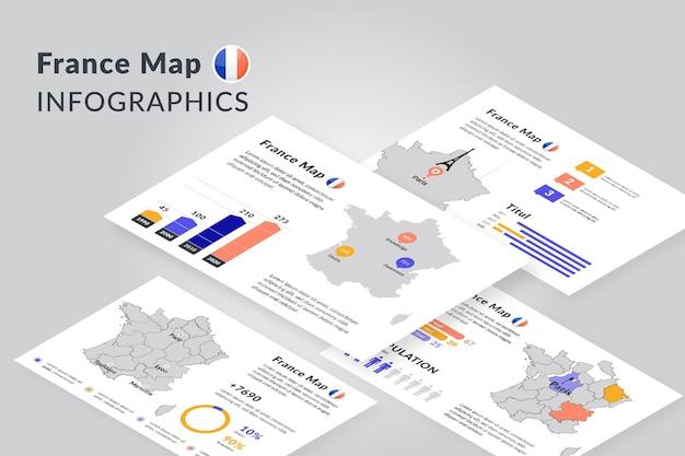 Infographie de la carte isométrique de paris