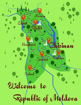 Infographie de la carte de la moldavie