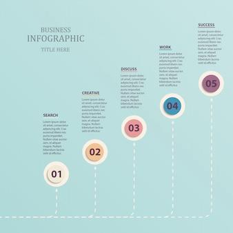 Infographie cercle modèle 5 options de nombre.