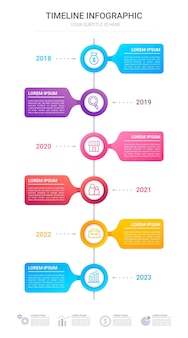 Infographie de la chronologie du dégradé pour la présentation