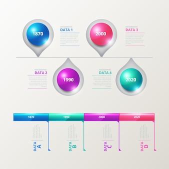 Infographie de chronologie réaliste brillant