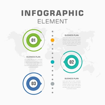 Infographie chronologique verticale