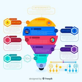 Infographie coloré avec options