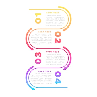 Infographie colorée au design plat