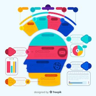 Infographie colorée avec marches