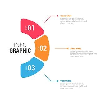 Infographie colorée moderne avec des étapes