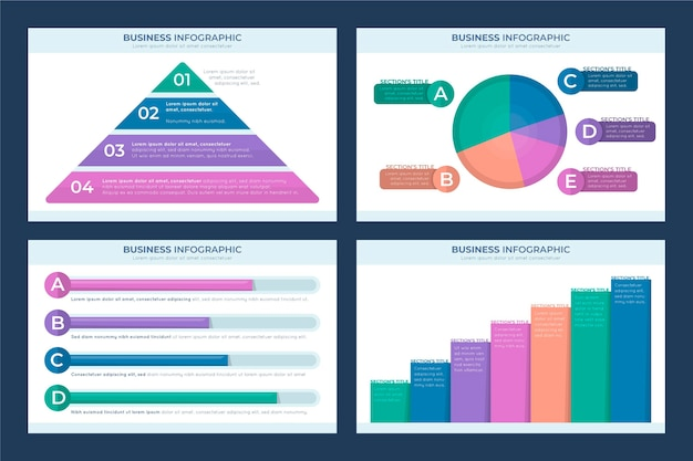 Infographie commerciale au design plat