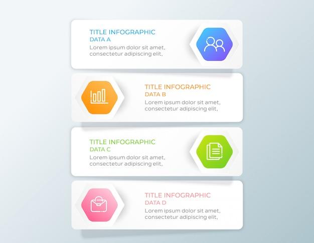 Infographie commerciale moderne en 4 étapes