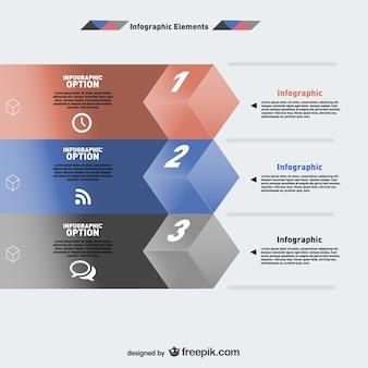 Infographie conception des options de cube moderne