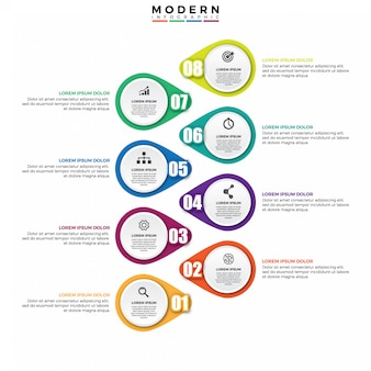 Infographie conception vecteur et marketing