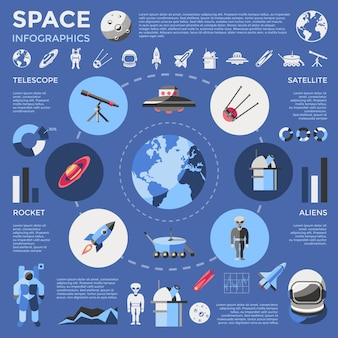 Infographie en couleur de l & # 39; espace