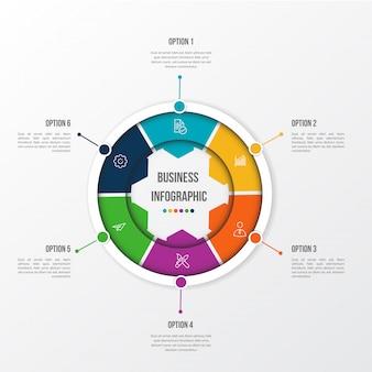 Infographie couleur moderne avec table 3d