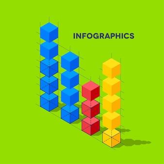 Infographie avec des cubes