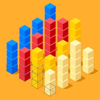 Infographie avec cubes