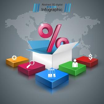 Infographie d'affaires.