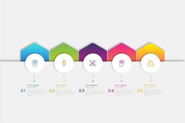 Infographie dégradé coloré