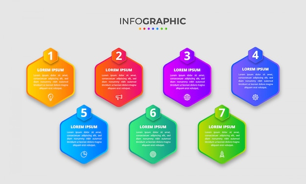 Infographie dégradé multicolore avec options ou étapes