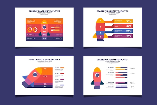 Infographie de démarrage de conception plate