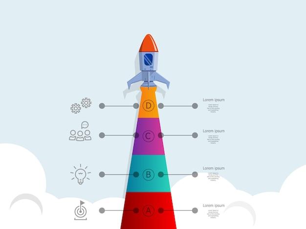 Infographie de démarrage d & # 39; entreprise de lancement de fusée