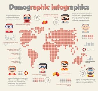 Infographie démographique avec des personnes