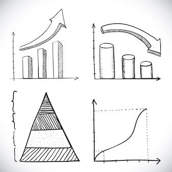 Infographie dessiné sur illustration vectorielle fond blanc