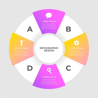 Infographie de diagramme circulaire design plat