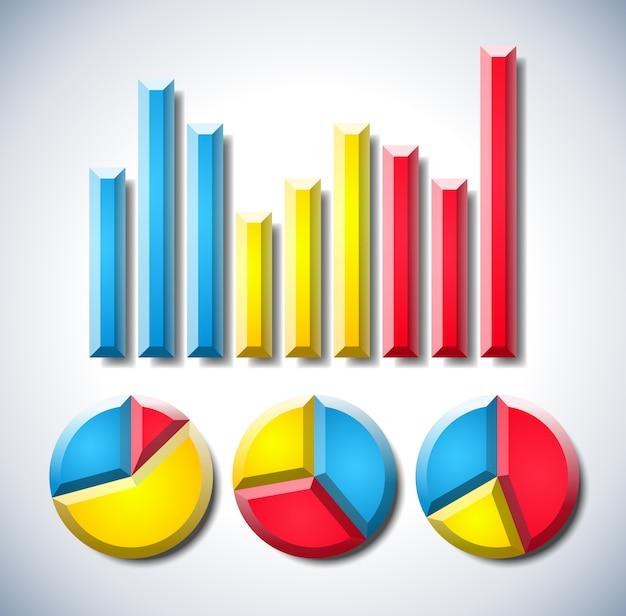 Infographie avec diagrammes de graphique et de camembert