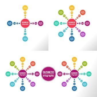 Infographie. diagrammes, présentations et graphiques commerciaux.