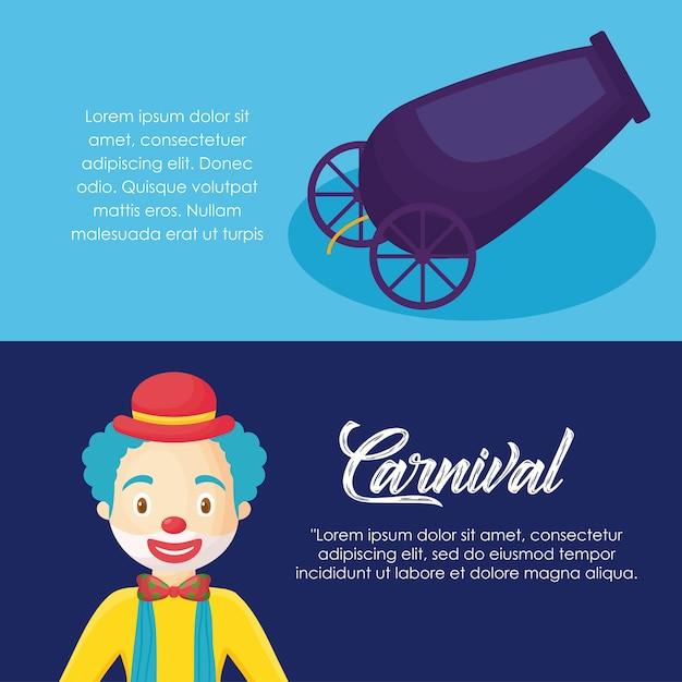 Infographie du concept de cirque de carnaval