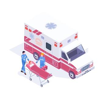 Infographie du service des urgences de la clinique d'aide d'urgence ambulance