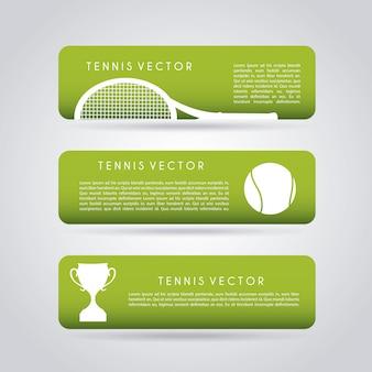 Infographie du tennis sur fond gris