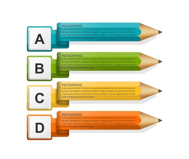 Infographie de l'éducation pour les présentations commerciales